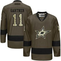 Stars #11 Mike Gartner Green Salute to Service Stitched NHL Jersey