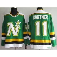 Stars #11 Mike Gartner Stitched Green CCM Throwback NHL Jersey