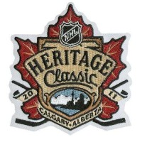 Stitched 2011 NHL Heritage Classic Game Logo Jersey Patch
