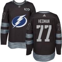 Tampa Bay Lightning #77 Victor Hedman Black 1917-2017 100th Anniversary Stitched NHL Jersey