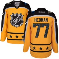 Tampa Bay Lightning #77 Victor Hedman Yellow 2017 All-Star Atlantic Division Stitched NHL Jersey