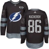 Tampa Bay Lightning #86 Nikita Kucherov Black 1917-2017 100th Anniversary Stitched NHL Jersey