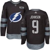 Tampa Bay Lightning #9 Tyler Johnson Black 1917-2017 100th Anniversary Stitched NHL Jersey