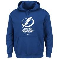 Tampa Bay Lightning Majestic Critical Victory VIII Fleece Hoodie Royal Blue