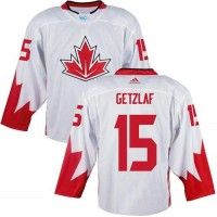 Team CA. #15 Ryan Getzlaf White 2016 World Cup Stitched NHL Jersey