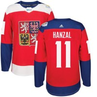 Team Czech Republic #11 Martin Hanzal Red 2016 World Cup Stitched NHL Jersey