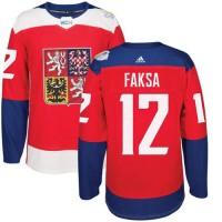 Team Czech Republic #12 Radek Faksa Red 2016 World Cup Stitched NHL Jersey