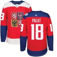 Team Czech Republic #18 Ondrej Palat Red 2016 World Cup Stitched NHL Jersey