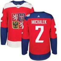 Team Czech Republic #2 Zbynek Michalek Red 2016 World Cup Stitched NHL Jersey
