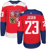 Team Czech Republic #23 Dmitrij Jaskin Red 2016 World Cup Stitched NHL Jersey