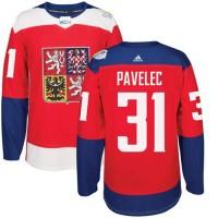 Team Czech Republic #31 Ondrej Pavelec Red 2016 World Cup Stitched NHL Jersey