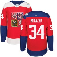 Team Czech Republic #34 Petr Mrazek Red 2016 World Cup Stitched NHL Jersey