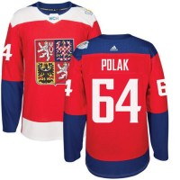 Team Czech Republic #64 Roman Polak Red 2016 World Cup Stitched NHL Jersey