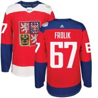 Team Czech Republic #67 Michael Frolik Red 2016 World Cup Stitched NHL Jersey