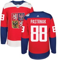 Team Czech Republic #88 David Pastrnak Red 2016 World Cup Stitched NHL Jersey