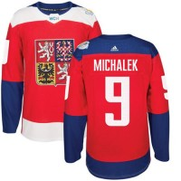 Team Czech Republic #9 Milan Michalek Red 2016 World Cup Stitched NHL Jersey
