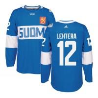Team Finland #12 Jori Lehtera Blue 2016 World Cup Stitched NHL Jersey