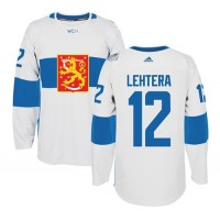 Team Finland #12 Jori Lehtera White 2016 World Cup Stitched NHL Jersey