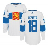 Team Finland #18 Sami Lepisto White 2016 World Cup Stitched NHL Jersey