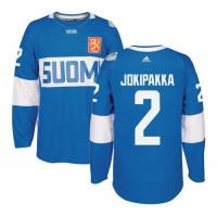 Team Finland #2 Jyrki Jokipakka Blue 2016 World Cup Stitched NHL Jersey
