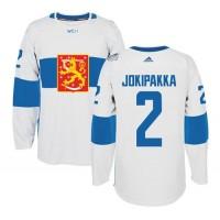 Team Finland #2 Jyrki Jokipakka White 2016 World Cup Stitched NHL Jersey