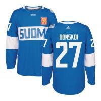 Team Finland #27 Joonas Donskoi Blue 2016 World Cup Stitched NHL Jersey