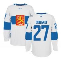 Team Finland #27 Joonas Donskoi White 2016 World Cup Stitched NHL Jersey