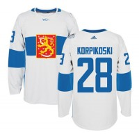 Team Finland #28 Lauri Korpikoski White 2016 World Cup Stitched NHL Jersey