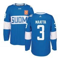 Team Finland #3 Olli Maatta Blue 2016 World Cup Stitched NHL Jersey