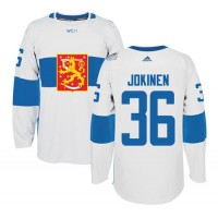 Team Finland #36 Jussi Jokinen White 2016 World Cup Stitched NHL Jersey