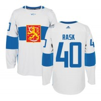 Team Finland #40 Tuukka Rask White 2016 World Cup Stitched NHL Jersey