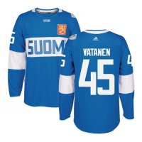 Team Finland #45 Sami Vatanen Blue 2016 World Cup Stitched NHL Jersey