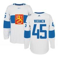 Team Finland #45 Sami Vatanen White 2016 World Cup Stitched NHL Jersey