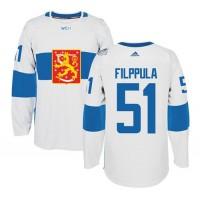 Team Finland #51 Valtteri Filppula White 2016 World Cup Stitched NHL Jersey