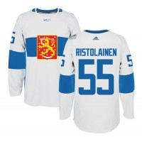 Team Finland #55 Rasmus Ristolainen White 2016 World Cup Stitched NHL Jersey