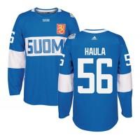 Team Finland #56 Erik Haula Blue 2016 World Cup Stitched NHL Jersey
