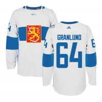 Team Finland #64 Mikael Granlund White 2016 World Cup Stitched NHL Jersey