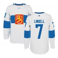 Team Finland #7 Esa Lindell White 2016 World Cup Stitched NHL Jersey