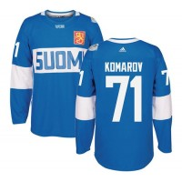 Team Finland #71 Leo Komarov Blue 2016 World Cup Stitched NHL Jersey