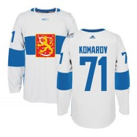 Team Finland #71 Leo Komarov White 2016 World Cup Stitched NHL Jersey