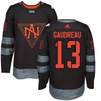 Team North America #13 Johnny Gaudreau Black 2016 World Cup Stitched NHL Jersey