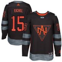 Team North America #15 Jack Eichel Black 2016 World Cup Stitched NHL Jersey