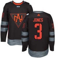Team North America #3 Seth Jones Black 2016 World Cup Stitched NHL Jersey
