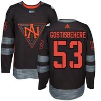 Team North America #53 Shayne Gostisbehere Black 2016 World Cup Stitched NHL Jersey