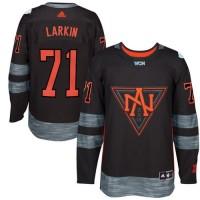 Team North America #71 Dylan Larkin Black 2016 World Cup Stitched NHL Jersey
