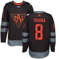 Team North America #8 Jacob Trouba Black 2016 World Cup Stitched NHL Jersey