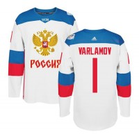 Team Russia #1 Semyon Varlamov White 2016 World Cup Stitched NHL Jersey