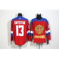 Team Russia #13 Pavel Datsyuk Red 2016 World Cup Stitched NHL Jersey