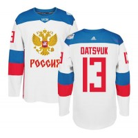 Team Russia #13 Pavel Datsyuk White 2016 World Cup Stitched NHL Jersey
