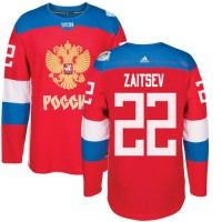 Team Russia #22 Nikita Zaitsev Red 2016 World Cup Stitched NHL Jersey